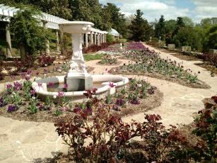 Italian Garden at beginning of spring