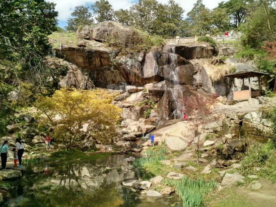 Waterfall between the gardens